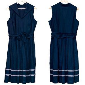 Jones New York Fit & Flare Dress in Navy